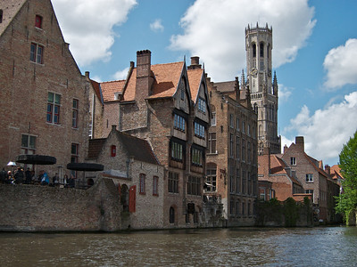 Bruges. View from the boat.