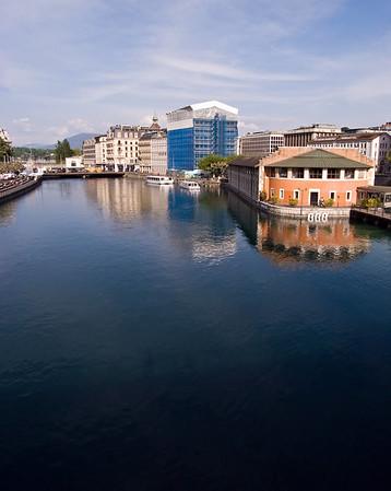 Geneva - the Rhône.